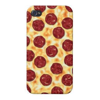 Modelo de la pizza de salchichones iPhone 4/4S carcasas