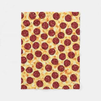 Modelo de la pizza de salchichones manta de forro polar