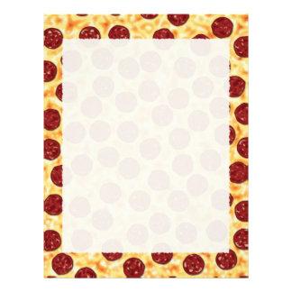 Modelo de la pizza de salchichones membrete personalizado