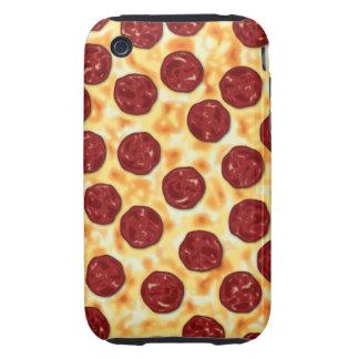 Modelo de la pizza de salchichones tough iPhone 3 protector