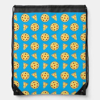 Modelo de la pizza del azul de cielo mochilas