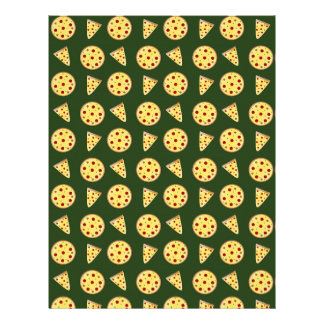 Modelo de la pizza del Forest Green Plantilla De Membrete