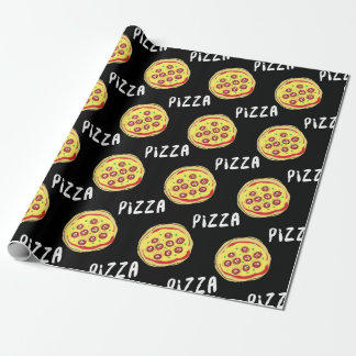 Modelo de la pizza papel de regalo