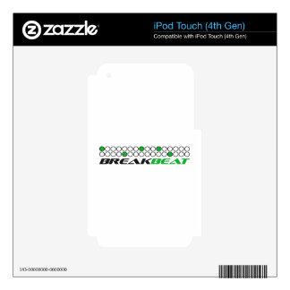 Modelo de la producción de la música de Breakbeat iPod Touch 4G Calcomanía