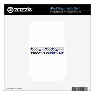 Modelo de la producción de la música de Breakbeat iPod Touch 4G Skin