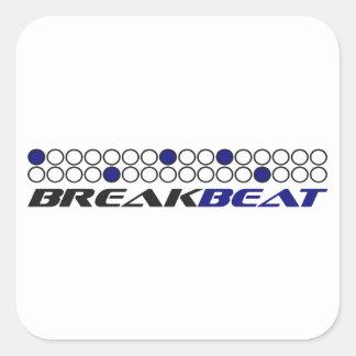 Modelo de la producción de la música de Breakbeat Pegatina Cuadrada