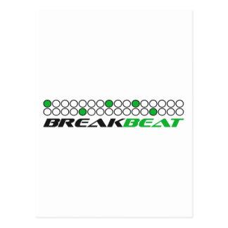 Modelo de la producción de la música de Breakbeat Tarjetas Postales