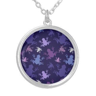 Modelo de la rana Púrpura violeta lavanda ciru