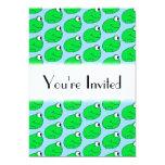 Modelo de la rana verde invitación 12,7 x 17,8 cm