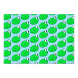 Modelo de la rana verde invitación 8,9 x 12,7 cm