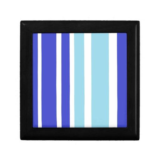 modelo de la raya azul de dos tonos caja de regalo