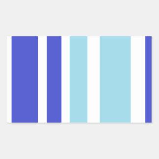modelo de la raya azul de dos tonos pegatina rectangular
