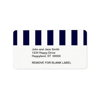 Modelo de la raya de la extra grande de los azules etiquetas de dirección