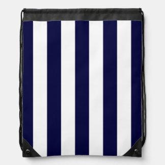 Modelo de la raya de la extra grande de los azules mochilas