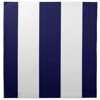 Modelo de la raya de la extra grande de los azules servilletas imprimidas