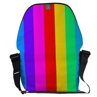 Modelo de la raya del arco iris bolsa messenger