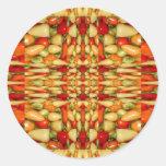 Modelo de la repetición del extracto de los pegatina redonda