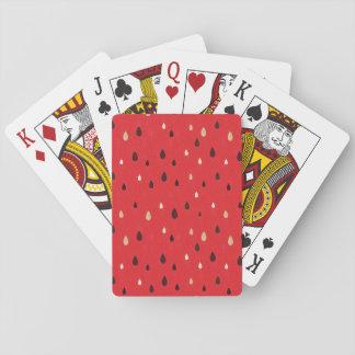Modelo de la sandía cartas de póquer