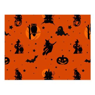 Modelo de la silueta de Halloween Postales