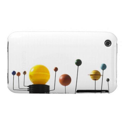 Modelo de la Sistema Solar en el fondo blanco 5 iPhone 3 Case-Mate Carcasas