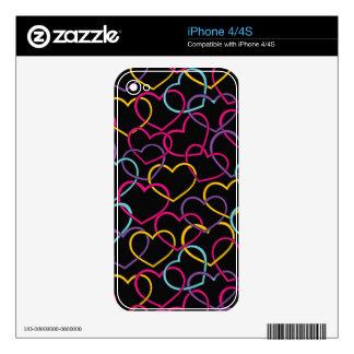 Modelo de la tarjeta del día de San Valentín con l Skins Para iPhone 4
