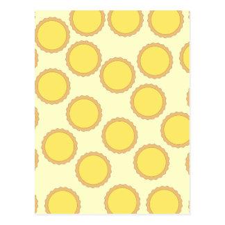 Modelo de la tarta del limón. Amarillo soleado Postales