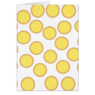 Modelo de la tarta del limón. Amarillo soleado Tarjeta De Felicitación