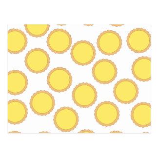 Modelo de la tarta del limón. Amarillo soleado Tarjeta Postal