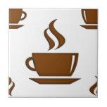 Modelo de la taza de café azulejos cerámicos