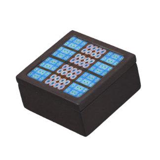 modelo de la teja del marrón azul caja de regalo de calidad
