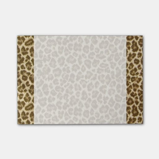 Modelo de la tela de la piel del leopardo post-it notas