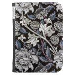 Modelo de la tela de William Morris en negro y azu