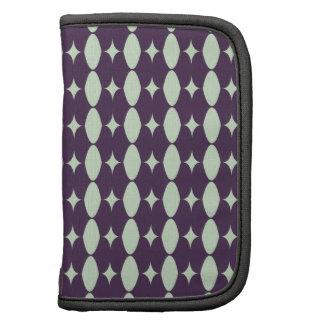 Modelo de la tela del verde de la violeta y de hie planificadores