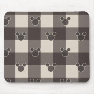 Modelo de la tela escocesa de Mickey Mouse el | Tapetes De Raton
