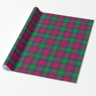 Modelo de la tela escocesa de tartán de Akins del Papel De Regalo
