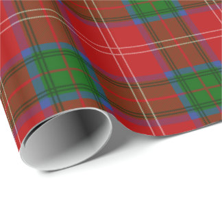 Modelo de la tela escocesa de tartán de Chisholm Papel De Regalo