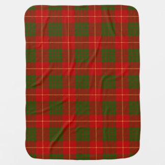 Modelo de la tela escocesa de tartán del clan de mantita para bebé