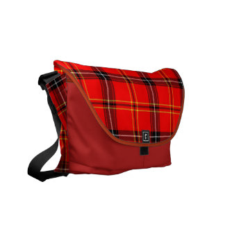 Modelo de la tela escocesa de tartán un bolso del bolsas de mensajeria