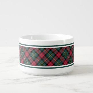 Modelo de la tela escocesa del navidad del vintage tazón