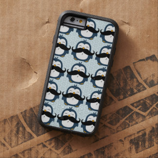Modelo de la tendencia del bigote del pingüino funda de iPhone 6 tough xtreme
