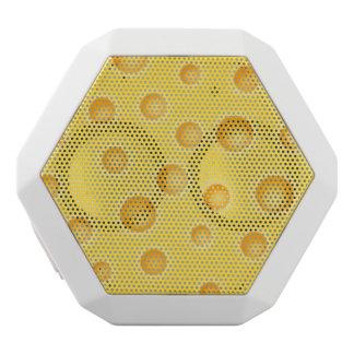 Modelo de la textura de Cheezy del queso suizo Altavoces Bluetooth Blancos Boombot REX