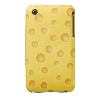 Modelo de la textura de Cheezy del queso suizo Funda Para iPhone 3 De Case-Mate