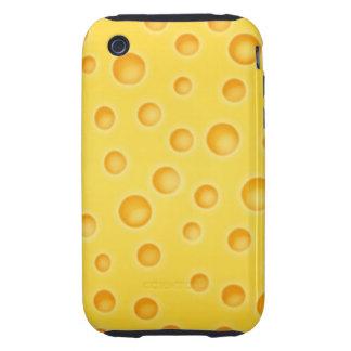 Modelo de la textura de Cheezy del queso suizo Funda Though Para iPhone 3
