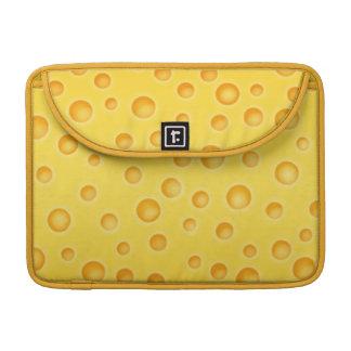 Modelo de la textura de Cheezy del queso suizo Fundas Para Macbooks