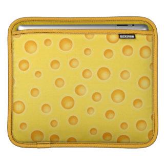 Modelo de la textura de Cheezy del queso suizo Manga De iPad