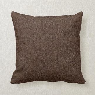 Modelo de la textura de la impresión del cuero de  cojin