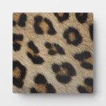 Modelo de la textura de la piel del leopardo placas para mostrar