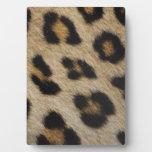 Modelo de la textura de la piel del leopardo placa