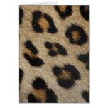 Modelo de la textura de la piel del leopardo tarjeton