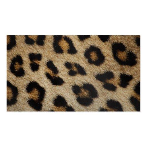 Modelo de la textura de la piel del leopardo tarjetas de negocios
